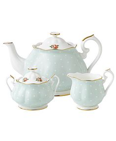 Royal Albert Dinnerware, Old Country Roses Polka Rose 3 Piece Tea Set  #macysdreamfund