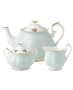 Royal Albert Dinnerware, Old Country Roses Polka Rose 3 Piece Tea Set  #macysdreamfund