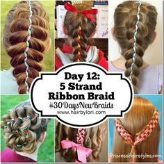 Day 12 - 5 Strand Ribbon Braid