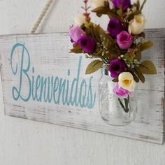 5 Claves Para Recibir Invitados En Casa | Antigua Madera Plaque Design, Rustic Farmhouse Decor, Diy Signs, Shabby Chic Style, Holidays And Events, Decor Interior Design, Accent Decor, Decoration, Diy And Crafts