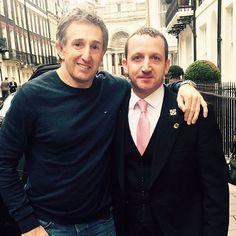 Jonathan Davies with Concierge Ryan.