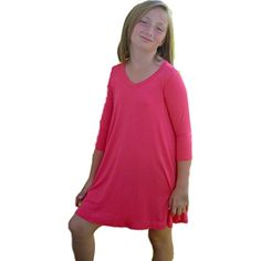 Pomelo Girls Flowy Ballet Tunic, Coral French Street Fashion, Button Down Shirt, Coral, Tunic Tops, Ballet, Street Styles, Stuff To Buy, Girls, Women