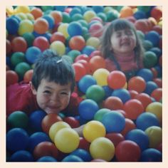 1/12/14 - Colorful - my kids in the ball pit at McDonald's in 2000. Can't believe they are now 20 and 16 years old. Where does the time go? #fmsphotoaday