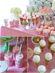 A Deliciously Darling Ice Cream Parlor  by Bird's Party