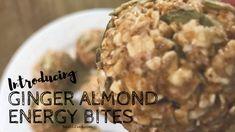 ginger almond energy bites