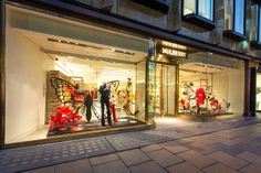 Mulberry Window Display | Butterfly & Cages by Millington Associates | #retail #windowdisplay #visualmerchandising #vm