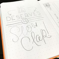 "Thinking of making this sarcastic ""slow clap"" lettering into a card!"