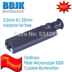 200X Fiber Magnifier with Coaxial Illumination Including 2.5mm and 1.25mm Adaptor