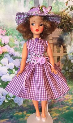 Tammy Doll, Dolly Doll, Lilac, Lavender, Wearing Purple, Gingham Dress, Hello Dolly, Vintage Dolls, Sell On Etsy