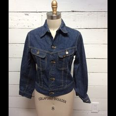 """Vintage 1960's Lee 101J denim jacket Maybe washed a couple of times, virtually new condition this vintage Lee is the real deal. Why spend on off the rack  replica vintage when you can have the original for the same price and not see anyone else wearing one! This measures a 36"""" chest, 20"""" length with an 22.5"""" sleeve. Beautiful classic piece for any closet. Vintage Jackets & Coats Jean Jackets"""
