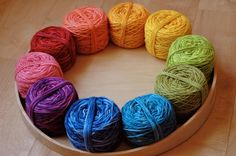 Yarn Color Wheel. Zoom!
