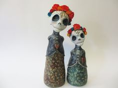 day of the dead stump dolls by artist amber leilani...