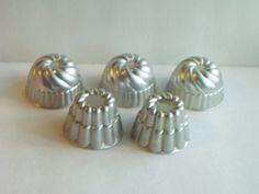 Vintage Jello Molds Aluminum Shaped Aspic Mold by InheritedTraits