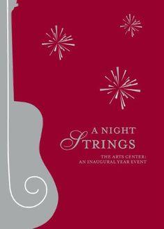 The Arts Center inaugural event program cover