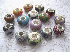 15 Handmade Polymer Clay Pandora Beads £10.00