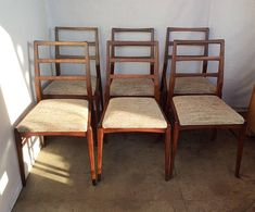 1960 1970 Danish Dining Chairs Teak Mid Century Mogens Kold Teak Papercord Rush Rich And Magnificent Antiques