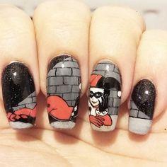 Instagram media nails_galore_x_ - Harley quinn #nail #nails #nailart