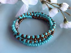 Check out this item in my Etsy shop https://www.etsy.com/listing/206776841/turquoise-bracelet-wrap-bracelet-yoga