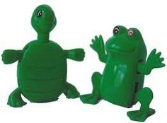 Turtle and frog wind-up toy