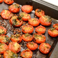 Roasted Tomato Basil Salad - it's so delicious.