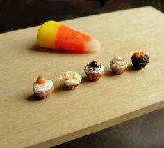 1:12 Scale Halloween Cupcakes by fairchildart.deviantart.com on @DeviantArt