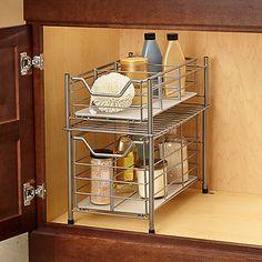 Nice bathroom storage solution : Deluxe Bathroom Cabinet Drawer ~ from Bed & Bath Drawer Shelves, Cabinet Drawers, Large Drawers, Drawer Storage, Storage Cabinets, Storage Baskets, Best Bath, Bathroom Cabinets, Bathroom Sinks