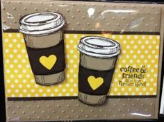 Handmade coffee/tea card using the Perfect Blend stamp set from Stampin' Up!