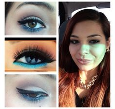 Recreation of nude & turquoise look