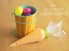 DIY Silly Putty Easter Carrot