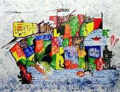 The City 25 - II by Kankana Pal | Mixed Media on Paper Size (W x H): 10 x 8 inch