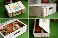 DIY box from popsicle sticks