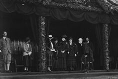 Royalty at the Braemar Gathering 1922, Princess Maud, Louise, Princess Royal, Duchess of Fife, the Duke of Aberdeen, Princess Andrew of Greece, Prince Andrew of Greece, and Charles Carnegie, 11th Earl of Southesk