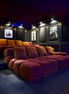 Home Theater Room Design, Movie Theater Rooms, Home Cinema Room, Home Theater Decor, Home Theater Seating, Home Theatre Rooms, Movie Theater Basement, Cinema Room Small, Theater Seats
