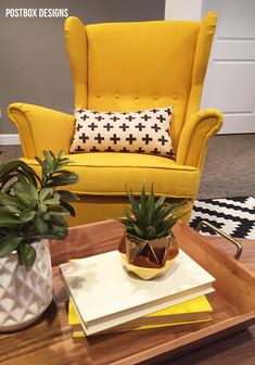 Create the Perfect Masculine Space: Man Cave Office & Seating Area Reveal by Postbox Designs, home office, living room, den, ikea chair, ikea rug, chesterfield, e-design, interior decor, man cave