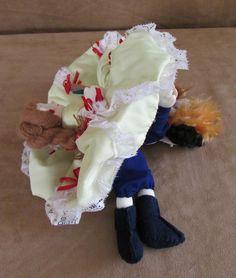 Topsy Turvy Storyteller Beauty & the Beast Cloth Doll Alma's Belle reversable