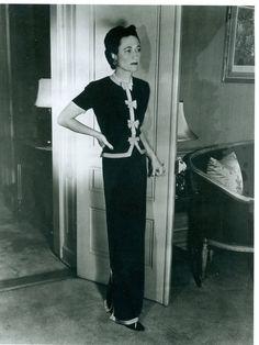 Wallis Simpson, Duchess of Windsor.