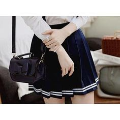 Buy 'Sechuna – Pleated School-Girl Skirt' with Free International Shipping at YesStyle.com. Browse and shop for thousands of Asian fashion items from South Korea and more!