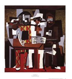 Three Musicians by Pablo Picasso art print