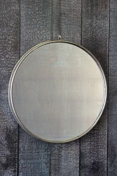 Large Circular Mirror With Metal Surround - Mirrors - Home Accessories