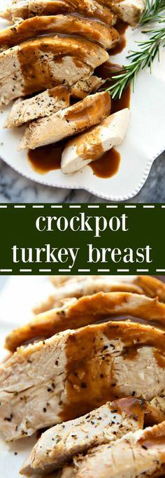 The most tender and deliciously seasoned crockpot turkey breast. Perfect for smaller holiday get togethers or to have turkey ready for lunches and salads during the week. CROCKPOT TURKEY BREAST The most tender and deliciously seasoned crockpot Crock Pot Recipes, Crock Pot Food, Crockpot Dishes, Crock Pot Slow Cooker, Slow Cooker Recipes, Cooking Recipes, Slow Cooking, Crockpot Meals, Slow Cooker Turkey