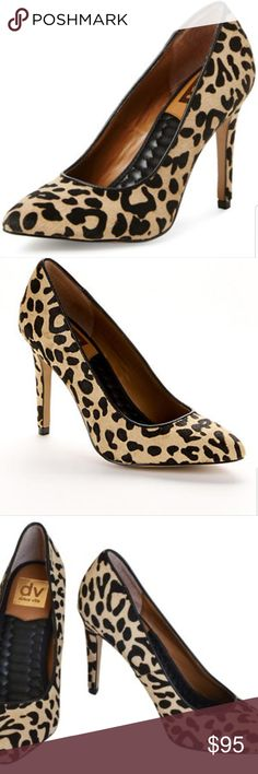 """DV by DOLCE VITA OAKLEE Calf Hair Leopard Pumps SOLD OUT. Approx. 4"""" heel. Marked size 8 1/2. Very good to excellent pre-owned condition. Please review all photographs as a part of the description and condition. DV by Dolce Vita Shoes"""