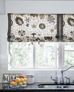 Love this fabric!  Flat Roman Shade - Photo Gallery - Smith+Noble