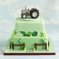 Vintage Fergie Tractor Cake