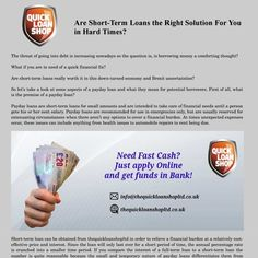 Are Short-Term Loans the Right Solution For You in Hard Times?
