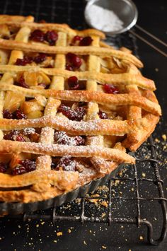 Winter warmer: Apple, cranberry and almond tart! YUM!