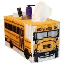 School Bus tissue topper/organizer