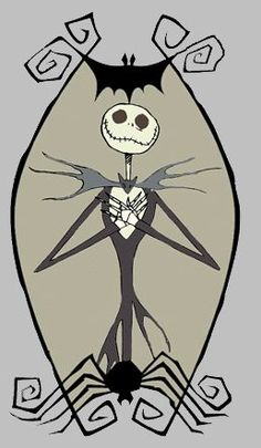 Jack Skellington pin the bowtie and Jack