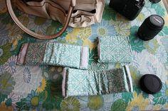 Create camera bag inserts for a regular purse.