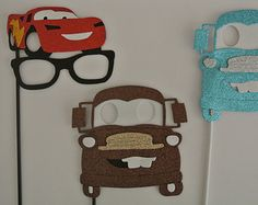 3 Car Inspired Photo Booth Party props Glasses