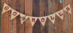 GO NOLES Burlap Banner for Florida State University by LylaDee